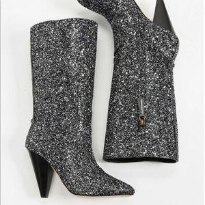 Veronica Beard. Olivia Rock Glitter Mid-calf Boots